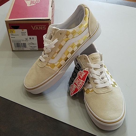 white and gold vans \u003e Clearance shop